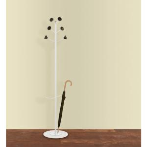 Hat and Coat Stand Lea 6 Hooks With Umbrella Ring