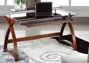 Computer Desk Forme 1300 Walnut/Black