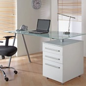 Manhattan Glass Desk Range