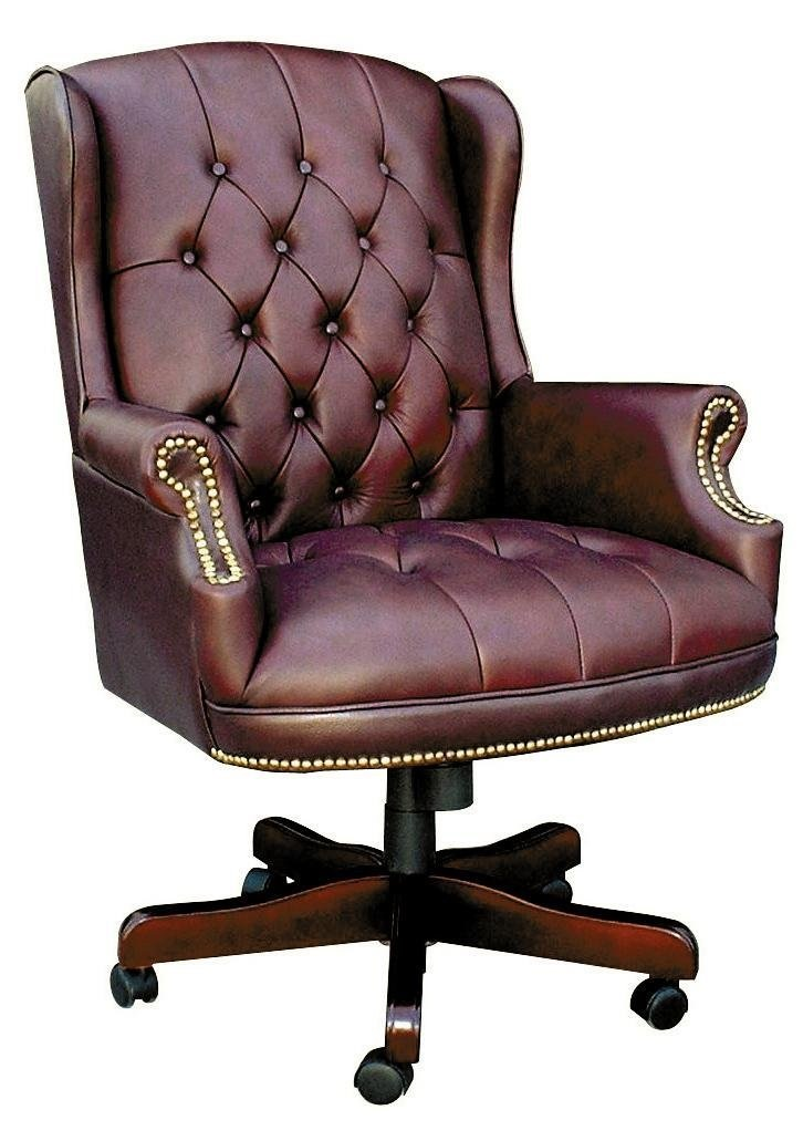 Traditional Button Tufted Executive Office Chair Office