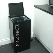 Office Recycling Bin Separate Soft Close Top With Lettering 100 litre