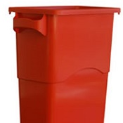 Office Recycling Bin Ecco 60 Litre Red