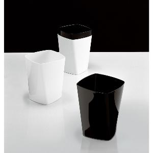 Twist Waste Bin Black or White