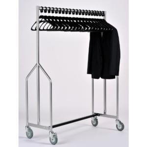 Coat Rail Heavy Duty With Black Hangers