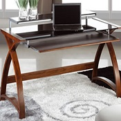 Computer Desk Forme 1300 Walnut/Black
