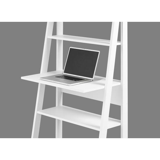 Ladder Style Home Office Desk In White And Oak