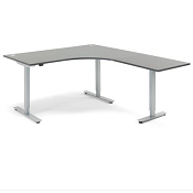 Sit - Stand Height Adjustable L Shaped Desk Energy 1600mm x 2000mm