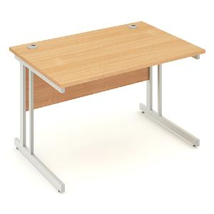 Straight Cantilever Leg Office Desk Impression 1200