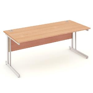 Straight Cantilever Leg Office Desk Impression 1800