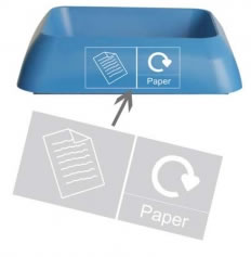 Office Recycling Bin Q Graphic Paper