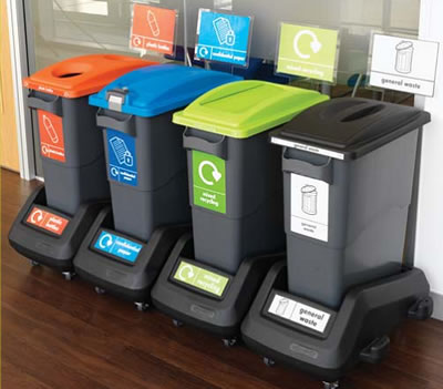 The Eco Range Of Office Recycling Bins Provides An Attractive Flexible  Functional And Easy To Use Solution For Waste And Recyclable Materials.