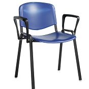 Conference / Meeting Chair Aquarius Black Frame Plastic Seat  And With  Arms Box Of 4