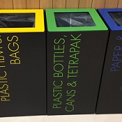 Office Recycling Bin Separate Lettering Coloured Tops