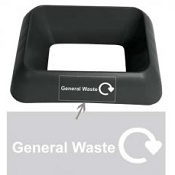 Office Recycling Bin Q Graphic General Waste