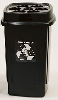 Plastic Cup Bin Charcoal Body/Charcoal Top