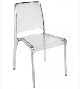 Cafe/Breakout Chair Ellie Clear Pack Of Four