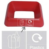 Office Recycling Bin Q Graphic Plastics