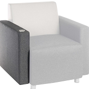 Block Reception Chair USB Arm