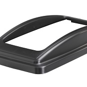 Office Recycling Bin Black Frame Lid For Mixed Recycling Ecco