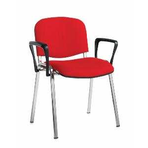 Meeting / Conference Chair Chrome Frame And With Arms Box Of 4