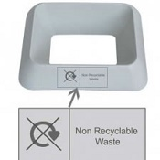 Office Recycling Bin Q Graphic Non Recyclables
