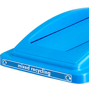 Office Recycling Bin Blue Swing Lid  For Mixed Recycling Ecco