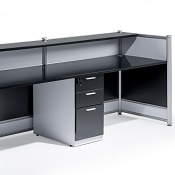 Welcome Reception Desk Black