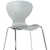 Cafe Chair Sky Three Grey Box Of 4