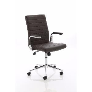 Office Chair Easy Brown Leather