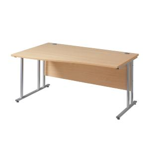 Wave Desk Left Hand Cantilever Leg 1600 Work 25