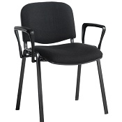 Conference / Meeting Chair Aquarius Black Frame And With Arms Box Of 4