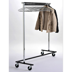 Coat Rail ZIGZAG With Chrome Antitheft Hangers