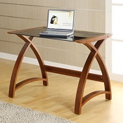 Computer Desk Forme Worktable Walnut/Black 900