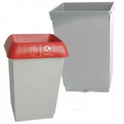 Office Recycling Bin 50 Litre Grey