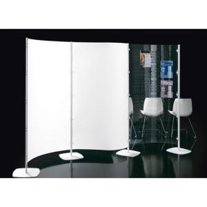 Ria Office Screen 2 Panel Clear Curved Screen