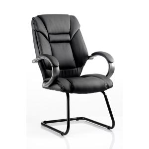Visitor Chair Genesis Black Leather