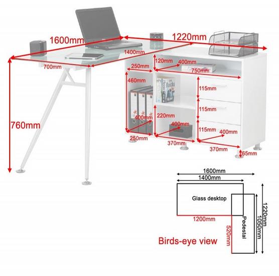 Glass Computer Desks. Glass Desks. Home Office Furniture