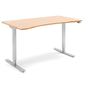 Sit - Stand Height Adjustable Wave Desk Energy 1600 x 800mm