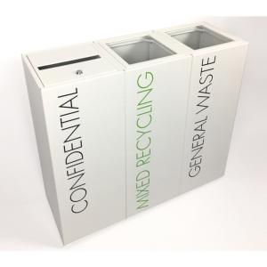 Office Recycling Bin Separate With Lettering 50 litre
