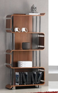 Forme Office Book Case Walnut