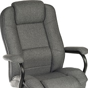 Heavy Duty Office Chair Strong Grey Fabric