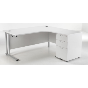 Ergonomic Office Desk 1600 Delite  Bundle 3 Drawer Pedestal