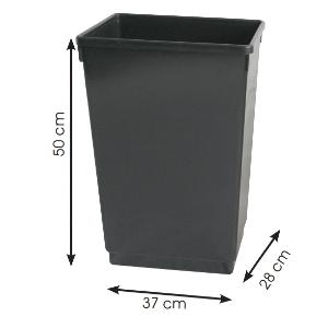 Office Recycling Bin 50 Litre Dark Grey