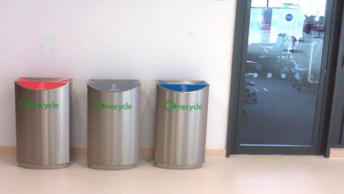 An Ideal Office Recycling Bin Solution For Offices And Public Areas.  Available In Various Options.