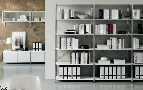 White Office Shelving Contemporary Shelving Office Furniture