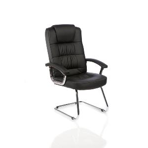 Visitor Chair More Deluxe Black Leather