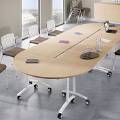 Meeting Room Table Paris Half - Moon 136 x 78
