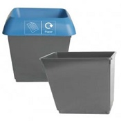 Office Recycling Bin 30 Litre Dark Grey