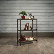 Computer Shelving Industrial 2 Or 4 Shelf Smoked Oak