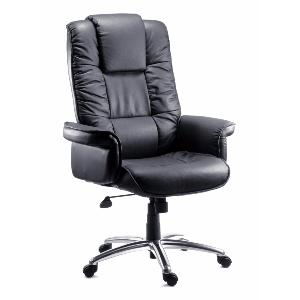 Office Chair Link Black Leather